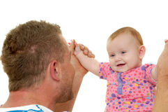 Smiling father and baby royalty free stock image