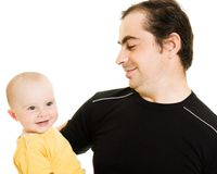 Smiling father and daughter. Royalty Free Stock Photos