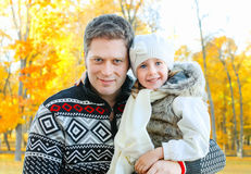 Smiling father and daughter Royalty Free Stock Photos