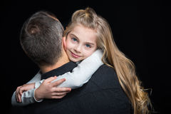 Smiling father and daughter Stock Photo