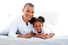 Smiling father and his daughter Stock Image