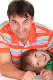 Smiling father with son Stock Photography