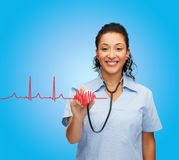 Smiling female african american doctor or nurse Stock Photography