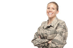 Smiling female airman Stock Images