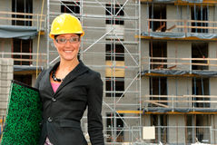 Smiling female architect Stock Photography