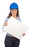 Smiling female architect Royalty Free Stock Photo