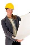 Smiling female architect Royalty Free Stock Images