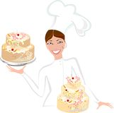 Smiling female baker Royalty Free Stock Image