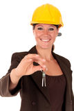 Smiling female building contractor Royalty Free Stock Image