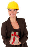 Smiling female building contractor Stock Photography