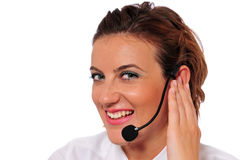 Smiling Female Call Agent Royalty Free Stock Photo