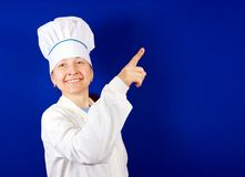 Smiling female cook Royalty Free Stock Photography