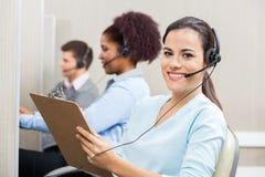 Smiling Female Customer Service Representative Stock Photos
