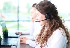Smiling female customer service Stock Photo