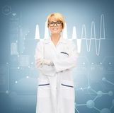 Smiling female doctor in glasses Stock Image
