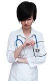 Full facelook of a woman doctor standing Stock Photography