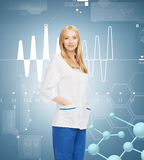 Smiling female doctor Stock Photos