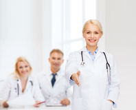 Smiling female doctor with stethoscope Royalty Free Stock Photo