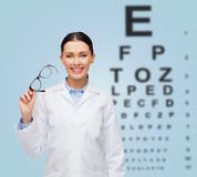 Smiling female doctor without stethoscope Stock Images
