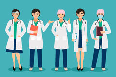 Smiling female doctor Stock Images