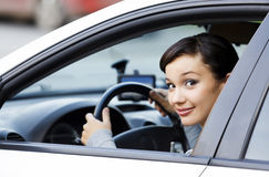 Smiling female driver Stock Photography