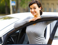 Smiling female driver Stock Image