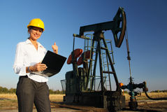 Smiling Female Engineer Stock Images