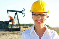 Smiling Female Engineer Stock Photo
