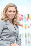 Smiling female executive Stock Images