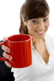 Smiling Female Executive Holding Coffee Mug Royalty Free Stock Photo