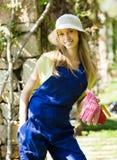 Smiling female gardener Stock Image