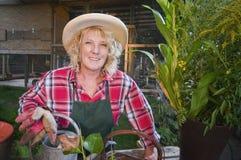 Smiling female gardener Royalty Free Stock Photography