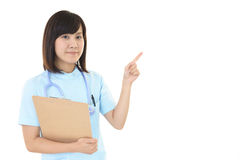 Smiling female nurse Stock Images