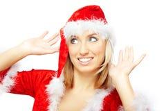 Smiling female Santa Stock Photos