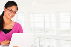 Smiling Female Student Stock Photography