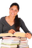 Smiling Female Student with Books Royalty Free Stock Photography