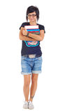 Smiling female student holding her books Stock Photography