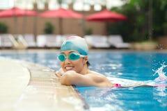 Smiling female swimmer Stock Photos