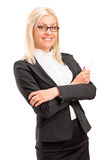 A smiling female teacher posing stock images