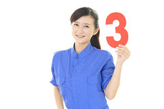 Smiling female worker Royalty Free Stock Photography