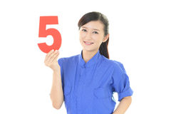 Smiling female worker Royalty Free Stock Image