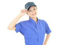 Smiling female worker Stock Images