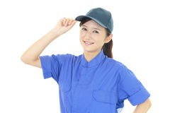 Smiling female worker Royalty Free Stock Images