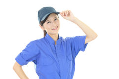 Smiling female worker. Portrait of a female worker Royalty Free Stock Photo
