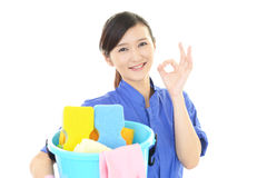 Smiling female worker Stock Photography