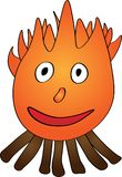 The smiling fire - Illustration Royalty Free Stock Photo