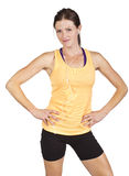 Smiling Fit Female ready for a workout Stock Images