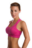 Smiling Fit Woman. An attractive fit woman in workout clothes Royalty Free Stock Photo