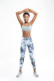 Smiling fitness afro american woman Royalty Free Stock Photography