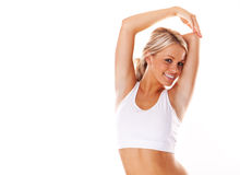 Smiling fitness beauty Stock Photo